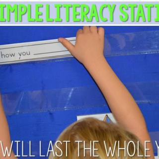 10 Simple Literacy Stations That Will Last You ALL YEAR!