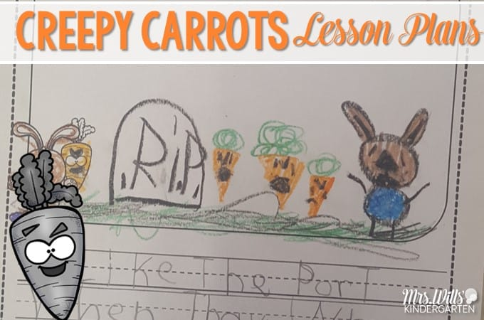 Creepy carrot lesson plans for the week are here! See how we use this book for a close reading lesson plan.