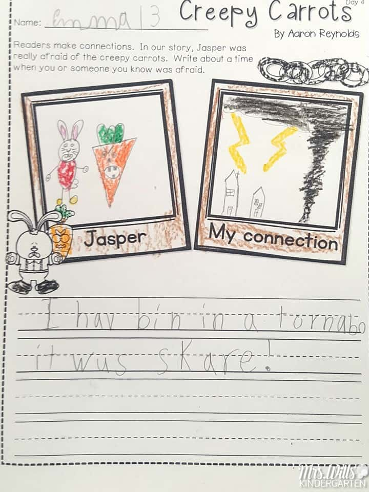 Creepy carrots lesson plans for the week are here! See how we use this book for a close reading lesson plan.