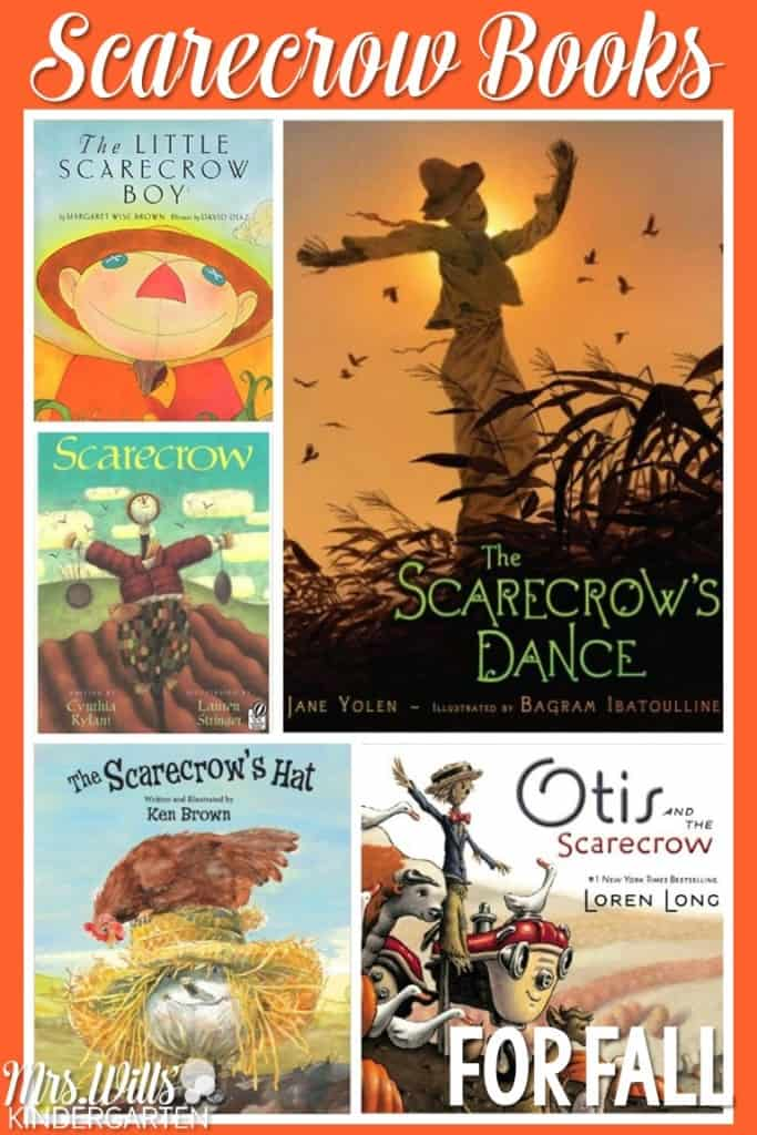 Books about Scarecrows for kindergarten or first grade. Great for read aloud lessons or just for fun!