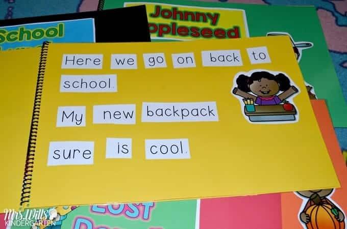 Simple Kindergarten Literacy Stations