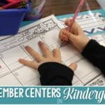 Simple Kindergarten Centers for December that Keep Kids Learning (FREE Download)