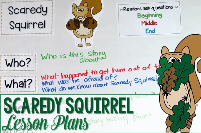Scaredy Squirrel Lesson Plans