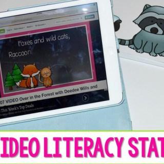 iPads in Kindergarten  Videos Literacy Station