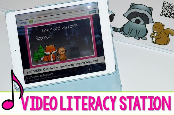 Kindergarten iPad videos can be a fun activity for your students. We use them as a center to reinforce fluency and literacy. Each poem and song has a QR code so kids can sing along!