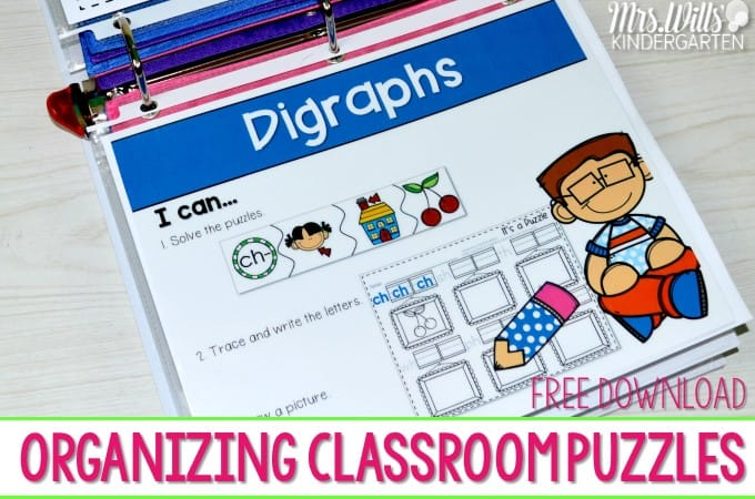 Literacy Centers Organizing Classroom Puzzles