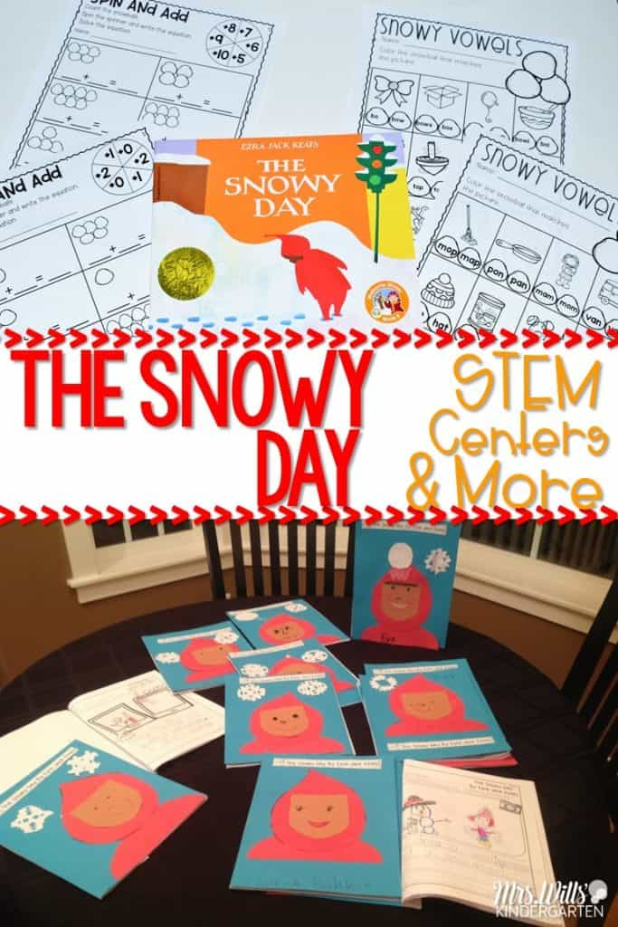 Ezra Jack Keats Snowy Day Lesson Ideas for kindergarten Books, videos, reading lessons, math activities, and more! Fun crafts and center resources are also included. Your students will love learning about snow.