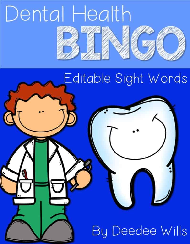 Dental Health FREE Sight Word Bingo