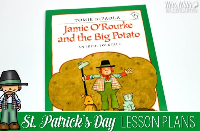 St Patricks Day lesson plans for Kindergarten. Jaime ORourke and the Big Potato by Tomie Depaola is featured in these close reading and reading comprehension lesson plans. Students respond to the text for deep comprehension. March FREE Centers