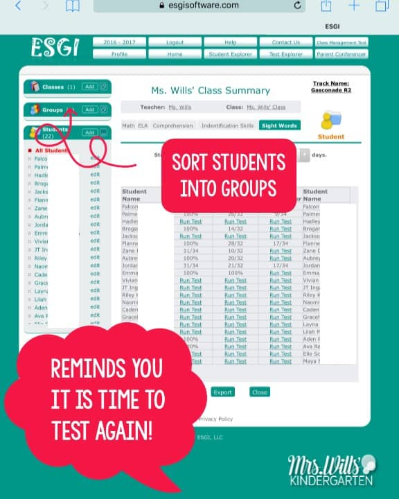 Easy kindergarten assessments are not a myth! Let me show you how ESGI works. Math, literacy, or anything you wish or need to test can be done through this system. Parent communication, data organization, graphs, progress monitoring and more!