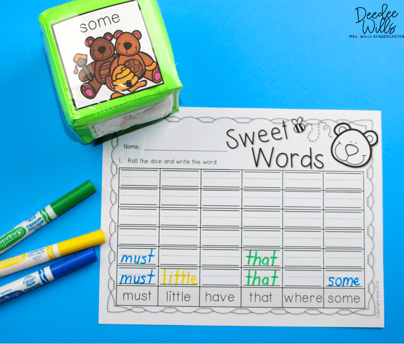 mastering sight words centers