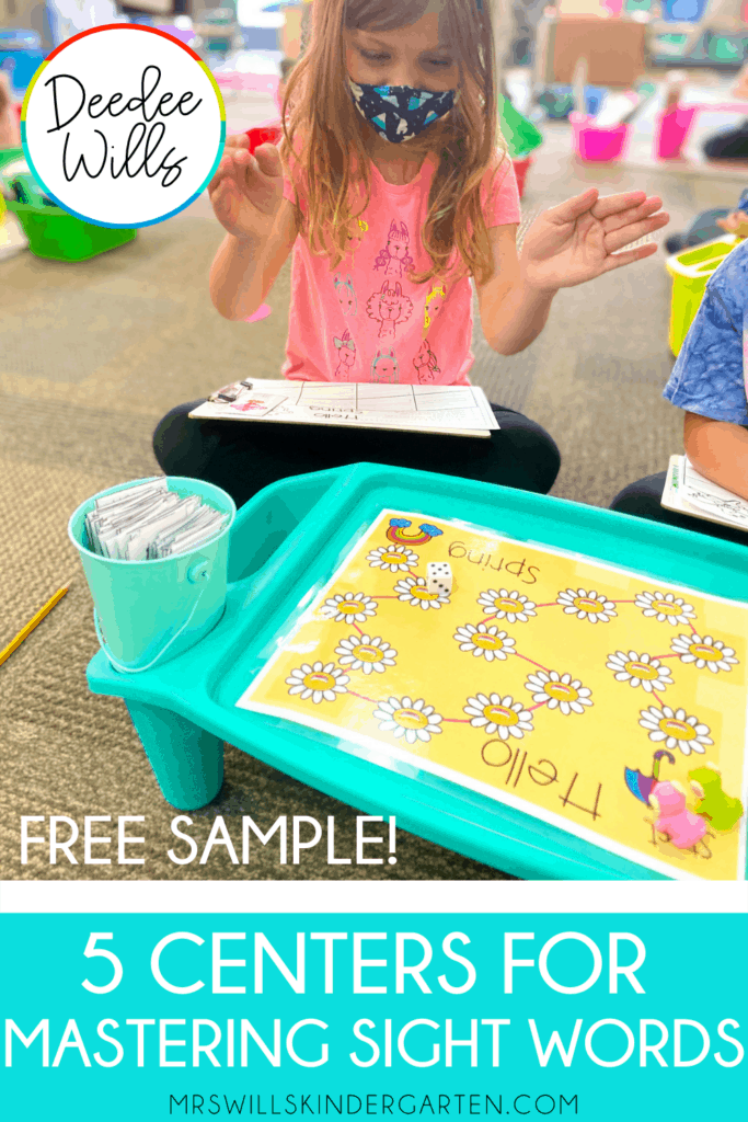 Mastering Sight Words Centers with these five activities! Students build high-frequency word fluency with these fun kindergarten stations. Editable so you can add your OWN words... FREE resources included.