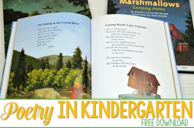 Poetry in Kindergarten!  FREE Organization Resource