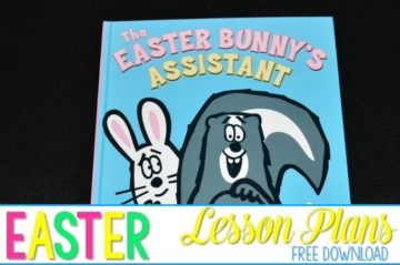 Easter Bunny's Assistant Lesson Plans are filled with reading comprehension ideas for kindergarten and first-grade. Cause and effect lesson ideas are included. Easter math activities and printables, plus sight word activities! FREE Easter word work activity too!
