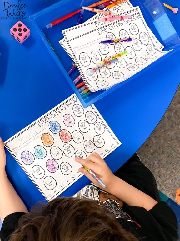 5 Mastering Sight Words Centers for Kindergarten | Plus a Free Sample! 13