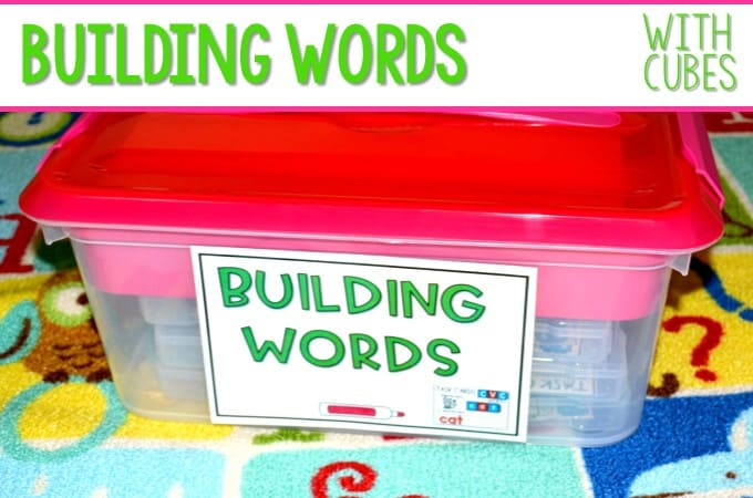 Building Words Word Work with Cubes!