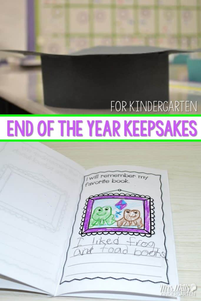 Kindergarten Graduation Ideas with diplomas, a parent gift, and an end of the year memory book for students to make.