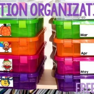 Center Materials Organization Ideas! Need a way to organize your centers for math and literacy. Here is how I keep my kindergarten stations managed.