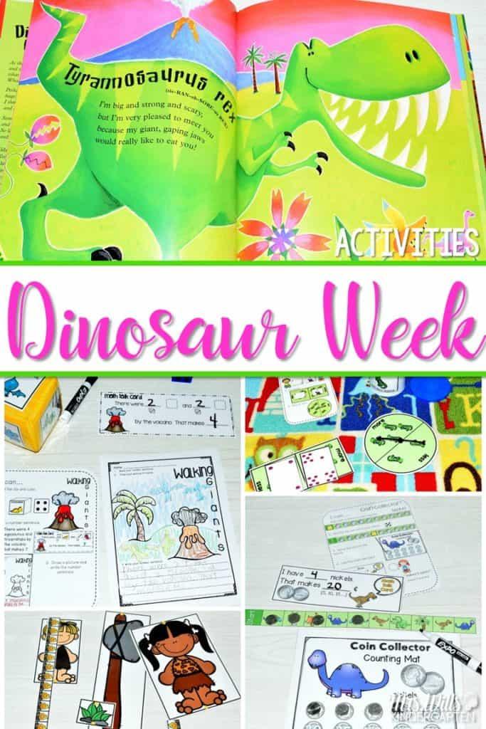 Kindergarten Dinosaur Sentence work