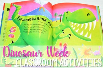Kindergarten Dinosaur Week Activity ideas for the classroom. Read aloud books, math centers, poetry, music videos and MORE! Check it out!