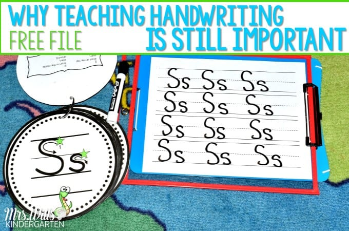 Kindergarten handwriting instruction is still an important part of your literacy lessons. This post will show you how to easily work alphabet formation and path of motion lessons into your daily schedule... and it is fun!
