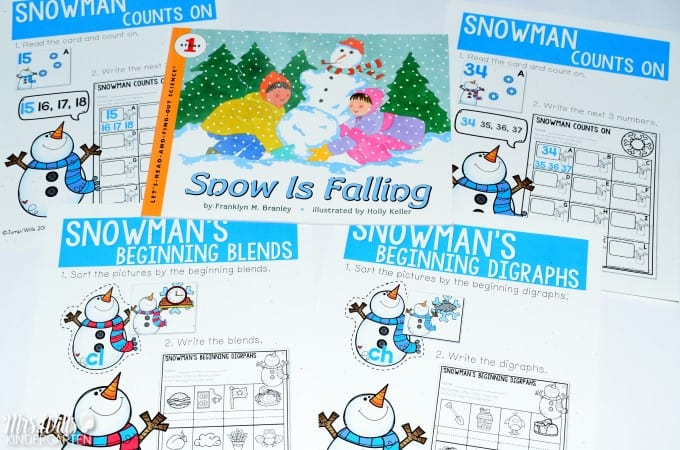 December kindergarten resources gingerbread centers and book