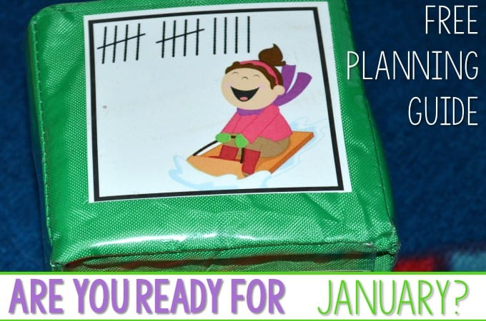 Are you ready for Winter?  January Math and Literacy Planning!