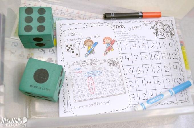 Winter Kindergarten Classroom Activities