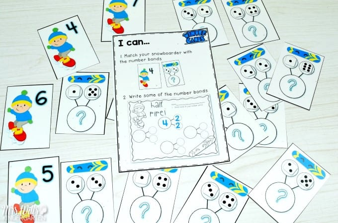 Winter Games Lesson Ideas are great for the Winter Olympics or anytime it turns cold. Read Aloud books for kindergarten and first grade plus math and literacy center ideas. Fun craft suggestion too!