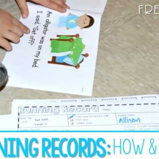 Running Record Assessment Forms! Learn how to complete the running record assessment form. Learn why running records help you analyze readers and help you learn what to teach next. FREE File is included.