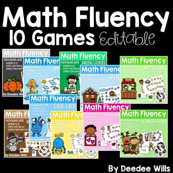 Math Fluency Games BUNDLE 1