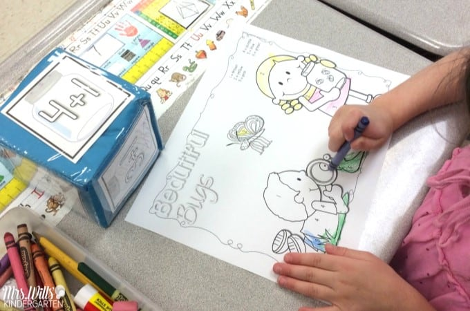 April Kindergarten Activities and lesson plans. This blog post is filled with Spring classroom ideas for read aloud, spring literacy centers, spring math centers, and more! Plus a free lesson planning guide for you!