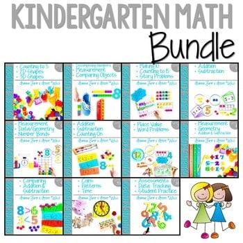 Kindergarten Math Curriculum-Year Long Bundle 1