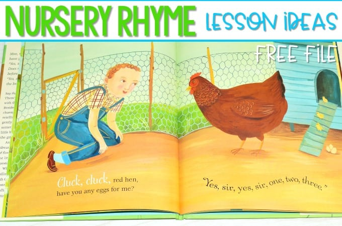 Nursery Rhyme Lesson Plans for Kindergarten (FREE File)