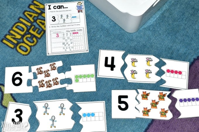 Nursery Rhyme Math and Literacy Center Activities for Kindergarten