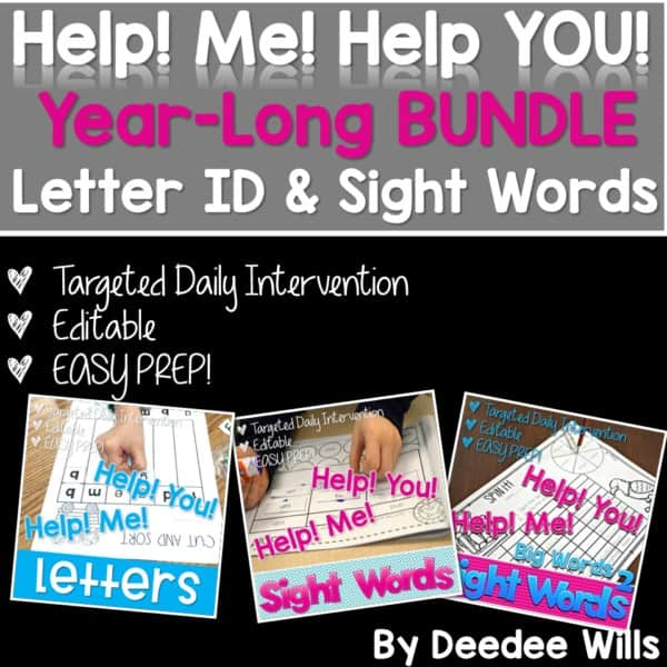 Intervention Bundle (Sight Words and Letters) 1