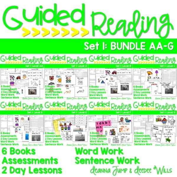 Guided Reading Bundle AA-G Set 1 1
