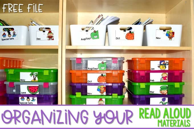 Tips for organizing your read aloud materials now!