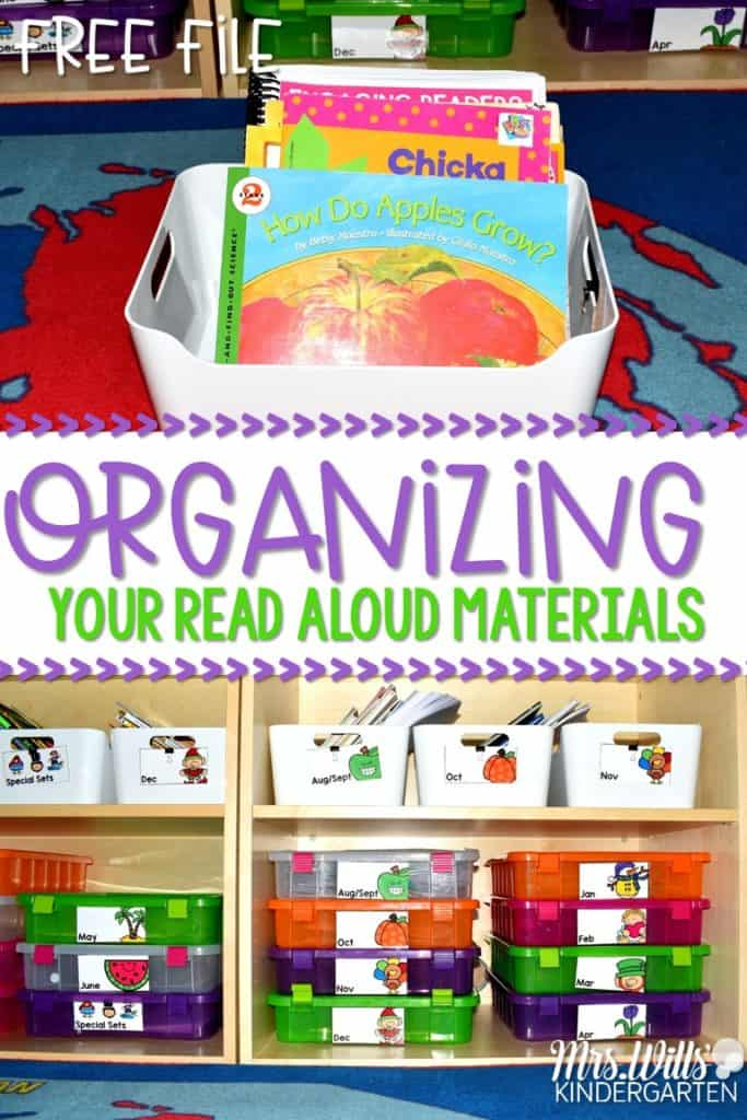 Read aloud organization tips for your classroom resources. Lots of ideas for organizing your teaching materials and your books, so your lesson plans will be seamless! FREE download too!