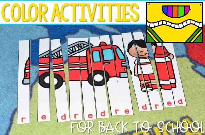 Color Activities for Back to School