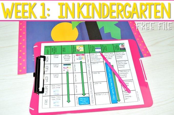 Kindergarten Lesson Plans Week 1 The first week in kindergarten lesson plan ideas with a free lesson plan template.