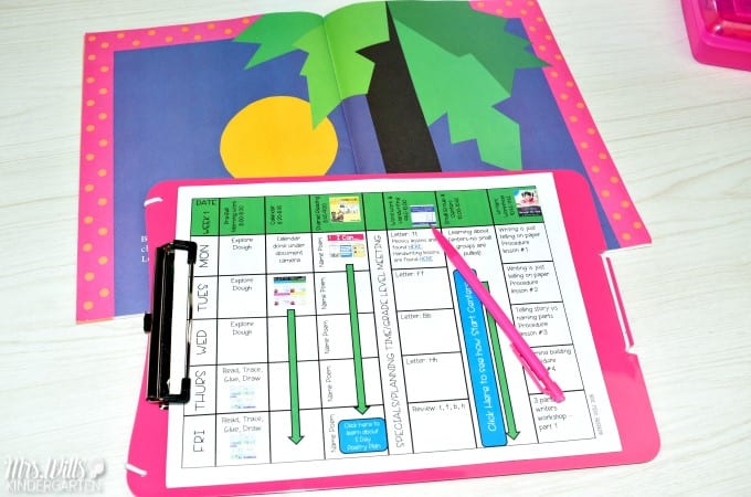 Kindergarten Lesson Plans Week 1 The first week in kindergarten lesson plan ideas with a free lesson plan template.