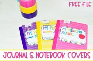 Free Journal and Notebook Labels for Kindergarten. This blog post contains free labels for your math journals, poetry notebook, and your students' thinking journals. Perfect for interactive notebooks!