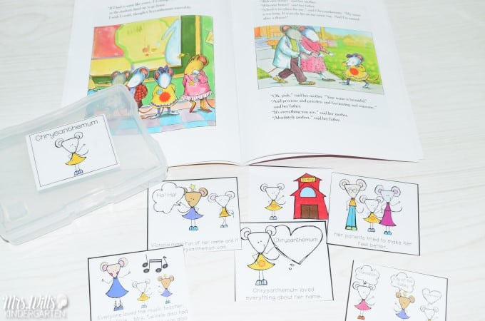 Kindergarten Lesson Plans Week 4 featuring ideas for Chrysanthemum reading, writing, math, and center activities too. Download the free editable lesson plan template.