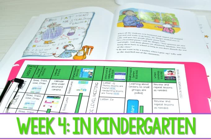 kindergarten lesson plans week 4