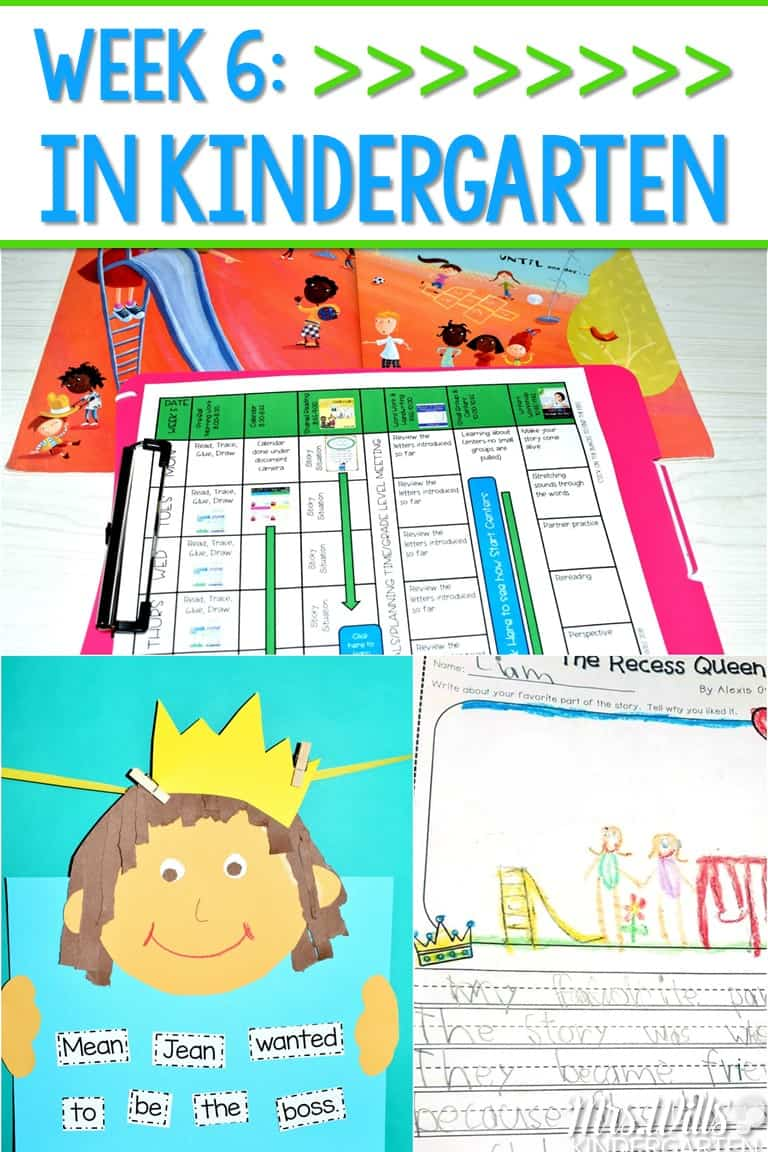 Kindergarten Lesson Plans Week 6 featuring ideas for The Recess ...