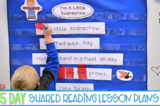 Kindergarten Poetry Activities And Shared Reading Poems