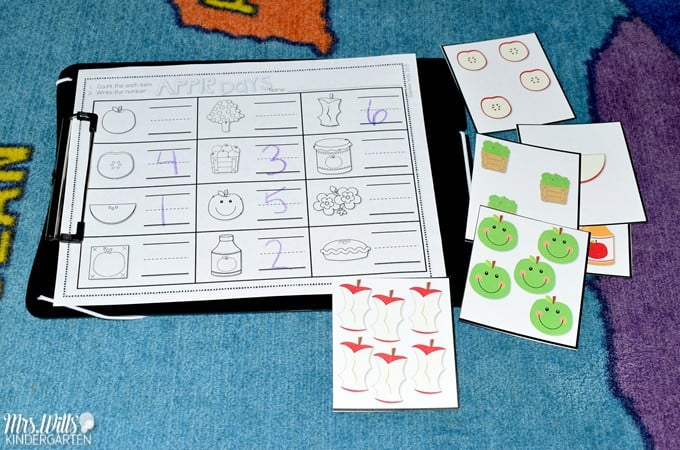 Kindergarten Lesson Plans Week 8 featuring ideas for How Do Apples Grow reading, writing, math, craft, and center activities too. Download the free editable lesson plan template