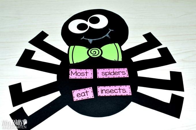 Kindergarten Lesson Plans Week 10 featuring ideas learning about spiders. Ideas for reading, writing, math, craft and center activities too. Download the free editable lesson plan template.