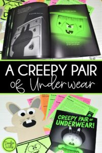 A Creepy Pair of Underwear Lesson Activities and Ideas for reading, writing, math, craft and center activities too. Download the free editable lesson plan template, PLUS a Free Halloween Math Center for Kindergarten!